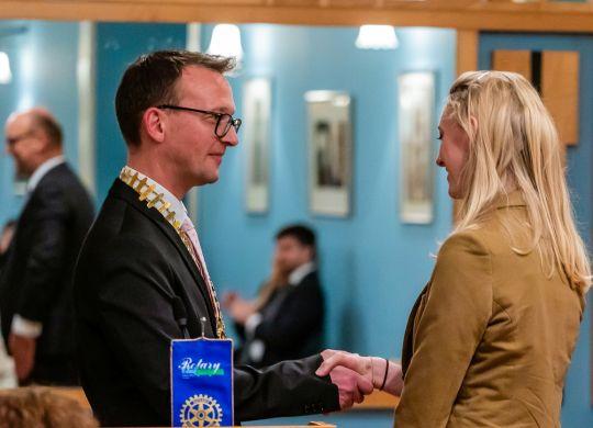 Katja Brezovar - prejemnica štipendije 2018 - Predsednik kluba Edvard Škodič